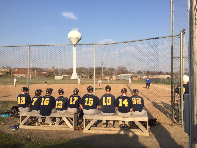baseball players on bench